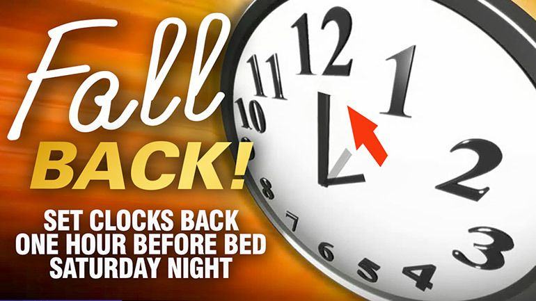 Set clocks & watches back 1 hour before bed on Halloween 2015!